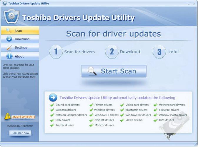 Toshiba Drivers Update Utility截图1