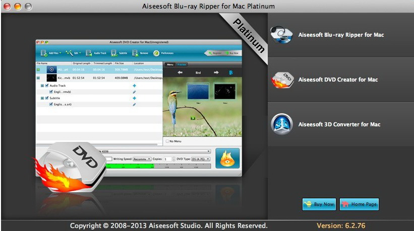 Aiseesoft Blu-ray Ripper Mac Platinum截图1