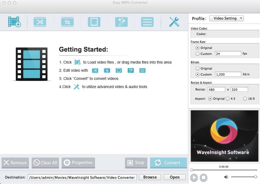 Easy WMV Video Converter for Mac截图1