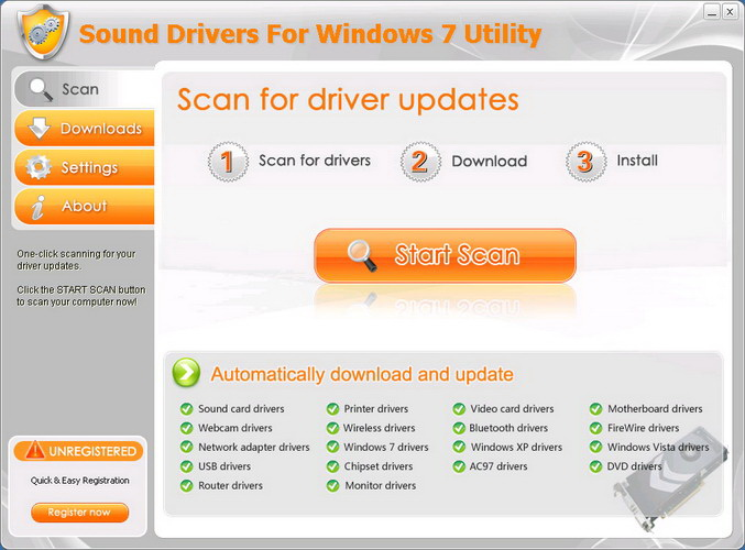 Sound Drivers For Windows 7 Utility截图2