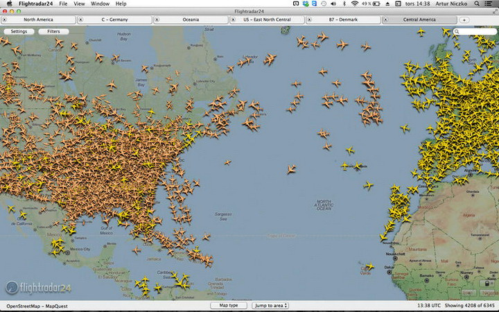 Flightradar24 for MAC截图2