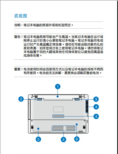 华硕X452EA笔记本电脑说明书