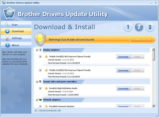 Brother Drivers Update Utility截图2