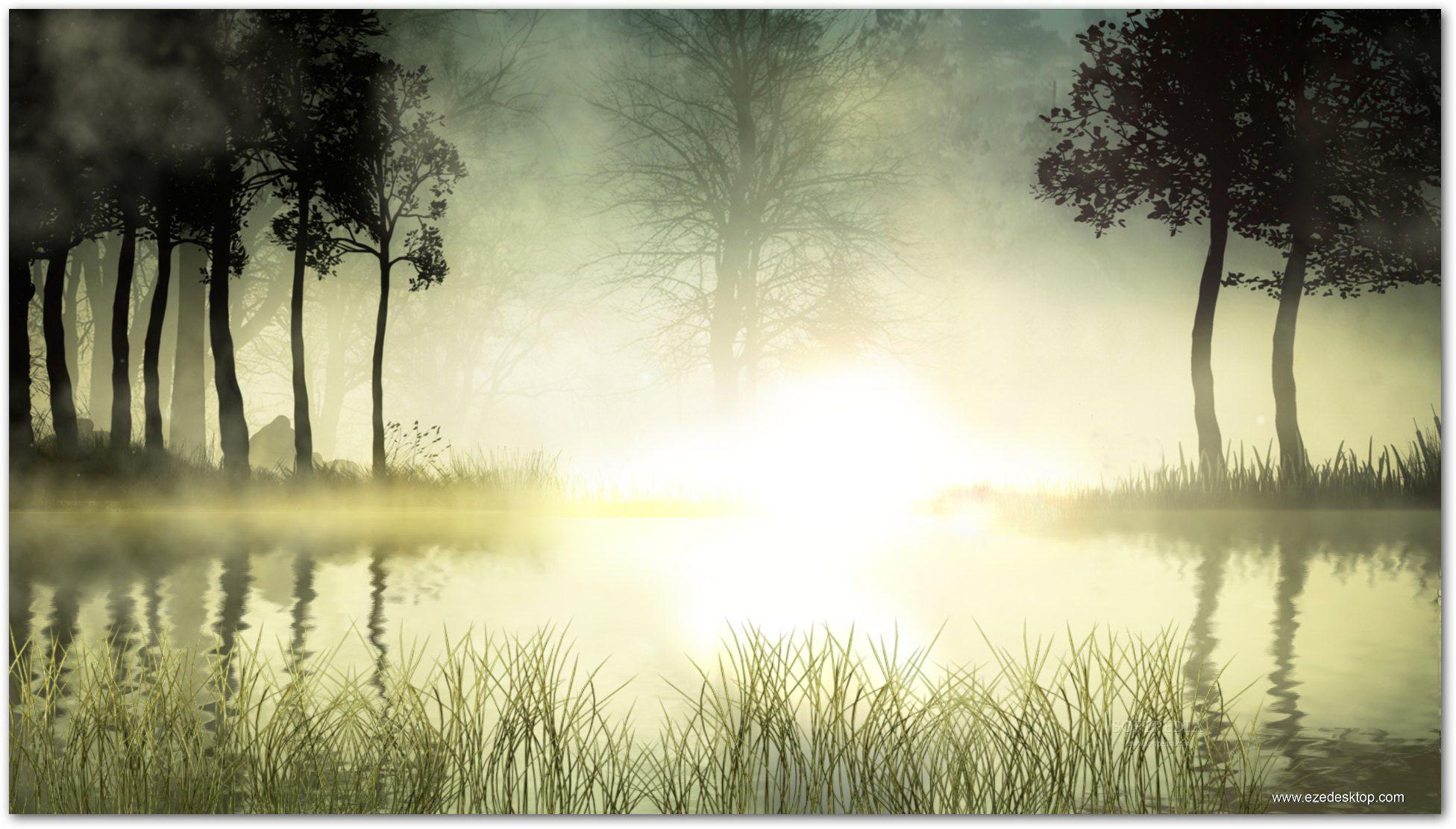 Sunrise Lake Screensaver截图1