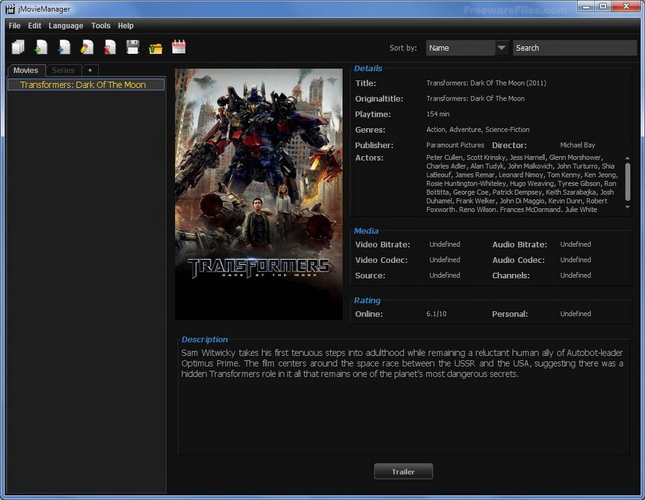 jMovieManager For Linux截图1