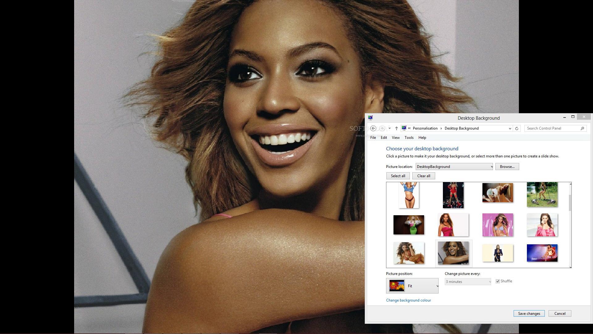 Beyonce Windows Theme截图1