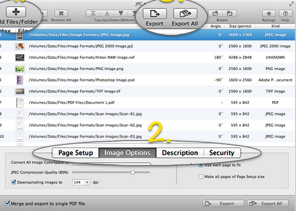 JPG to PDF For Mac截图1