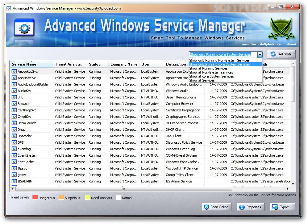 Advanced Windows Service Manager截图1