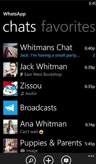 WhatsApp For WP截图1