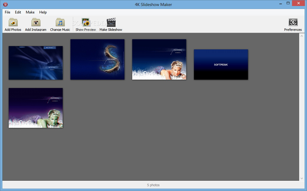 4K Slideshow Maker Portable For Linux截图1