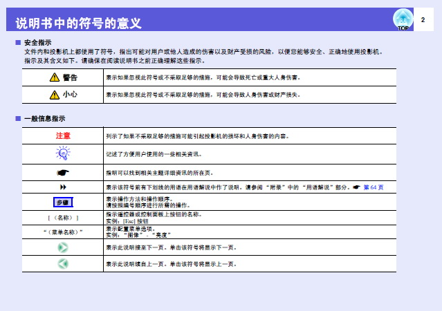 爱普生EB-W8投影仪使用说明书截图1