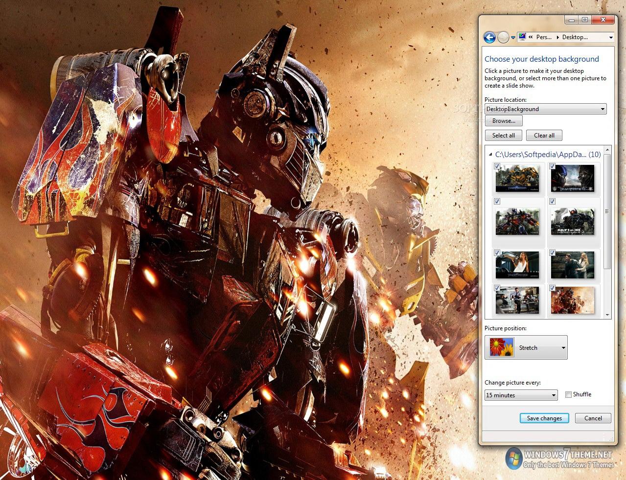 Transformers 3 Windows 7 Theme截图1