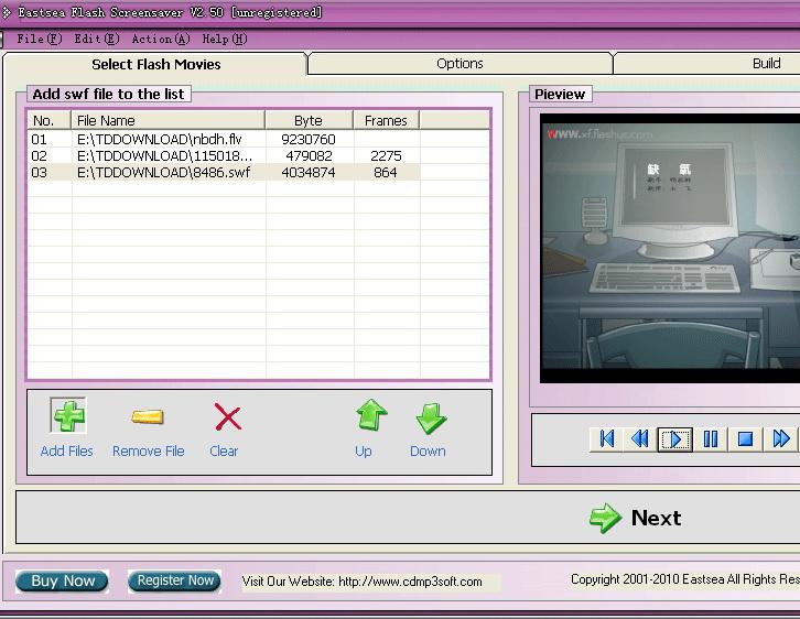 Eastsea Flash Screensaver截图1