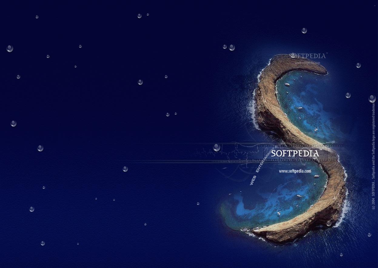Animated Water Drop Desktop Wallpaper截图1