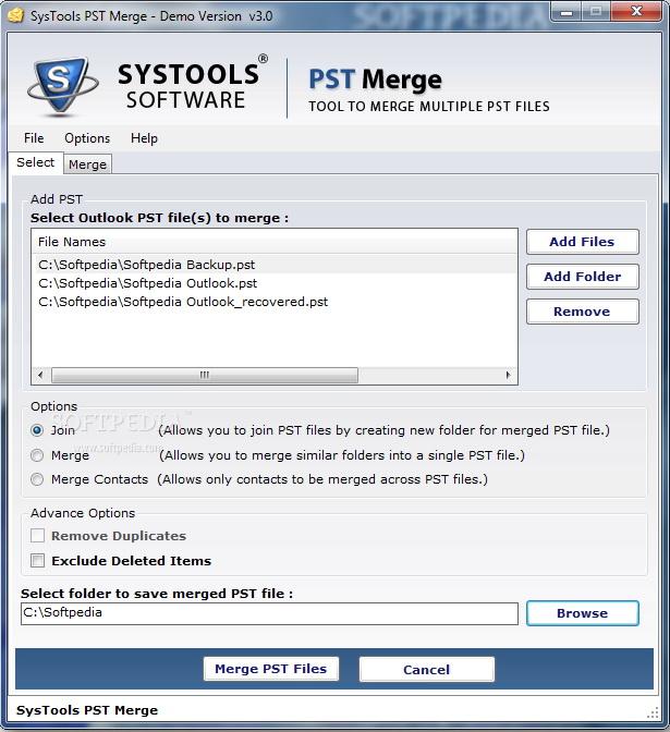 SysTools PST Merge截图1