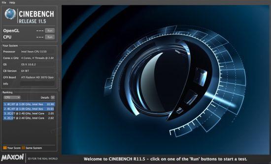 系统测试Cinebench截图1