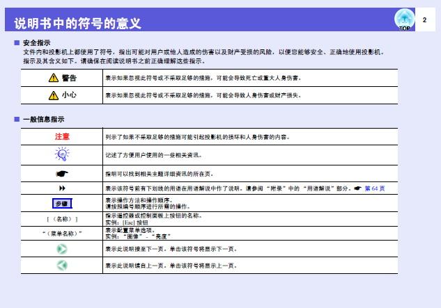 爱普生EB-X7投影仪使用说明书截图2