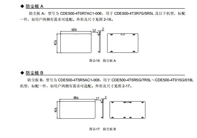 康元CDE500-4T075G/090L变频器使用说明书