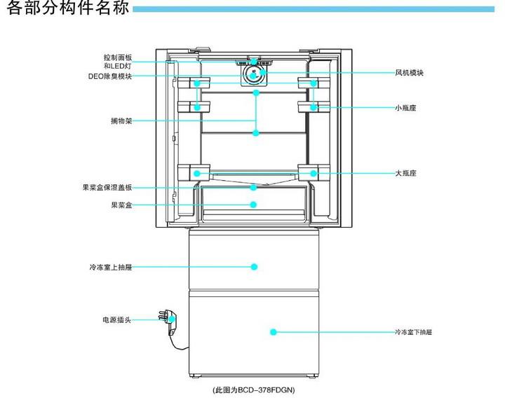 海尔BCD-378FDGN电冰箱使用说明书截图2