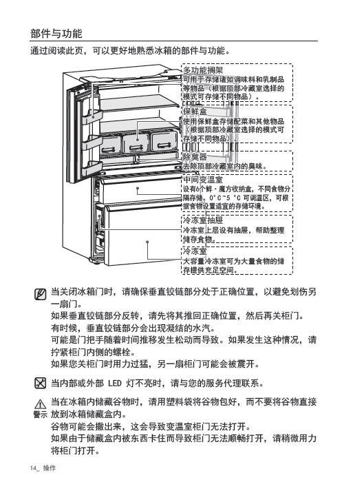三星RF42FSQNMX3电冰箱使用说明书截图2
