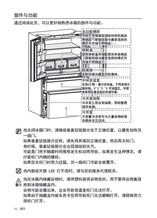 三星RF425NQMA1J电冰箱使用说明书截图2