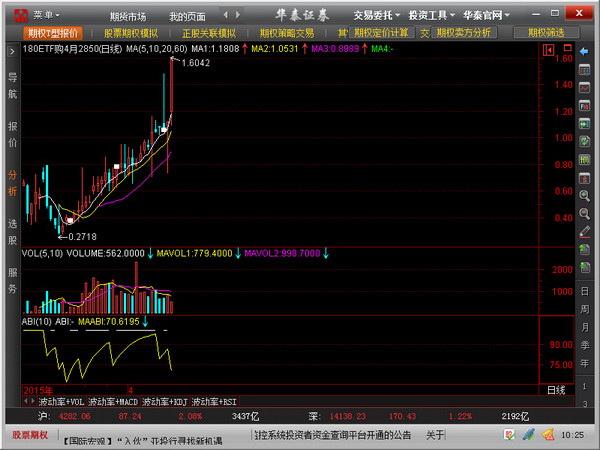 华泰证券股票期权全真模拟交易系统截图1
