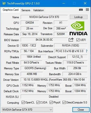 GPU-Z截图1