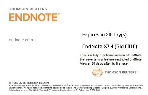 Endnote截图2
