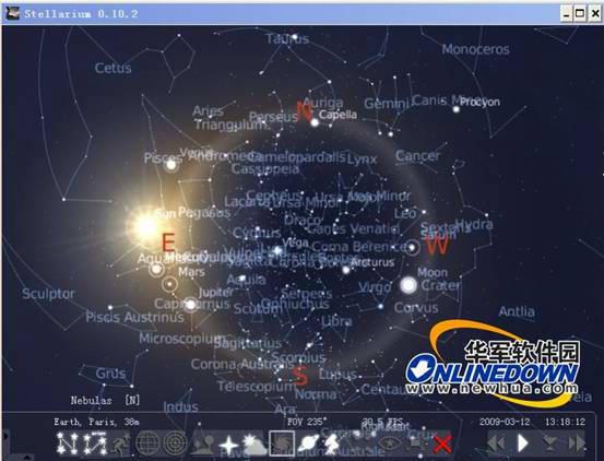 Stellarium(虚拟天文馆)截图1