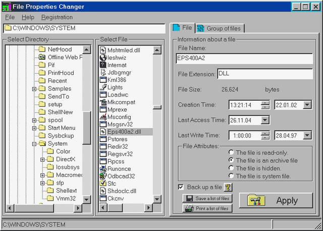 File Properties Changer截图1