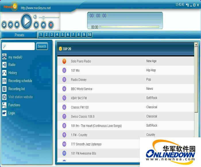 mediaU Radio Player截图1