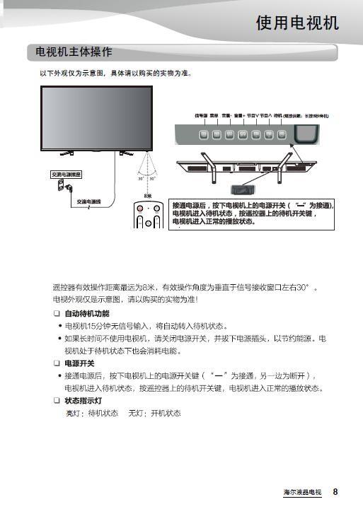海尔LE48G520N液晶彩电使用说明书
