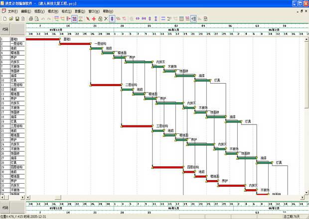 超人施工项目进度网络计划软件截图1