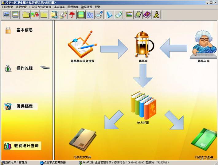 兴华社区卫生服务站管理软件截图1