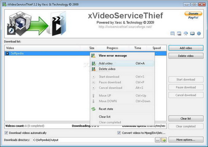xVideoServiceThief For Linux截图1