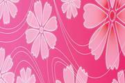 色彩光泽鲜花花卉矢量图