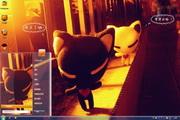 黑白猫win7主题下载