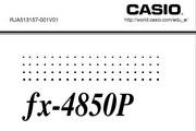 CASIO 计算器fx-4850P 说明书