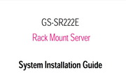 技嘉GS-SR222E System Installation Guide说明书