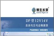 博生水泵DP型12V、24V直流电动隔膜泵说明书