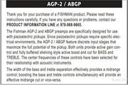 Fender Fishman AGP-2, ABG Preamps说明书