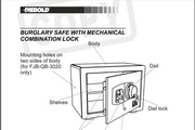 迪堡FJB-QB-2020防盗保险柜英文说明书