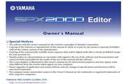 雅马哈SPX2000 Editor说明书
