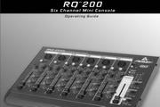 百威RQ 200 Six Channel Mini Console说明书