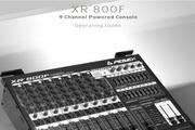 百威XR 800F 9 Channel Powered Mixer说明书