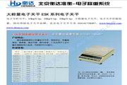 衡达ES10K-1电子天平使用说明书