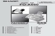 声宝 FO-A660型传真机 说明书
