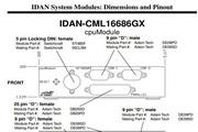 瑞泰凯博IDAN-CML16686GX型IDAN集成CPU模块板说明书