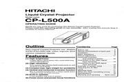 日立 CP-L500A投影机 英文说明书
