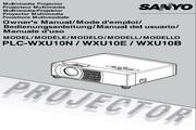 三洋 PLC-WXU10E投影机 英文说明书